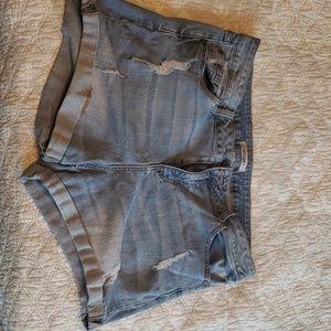Refuge Distressed Blue Jean Shorts